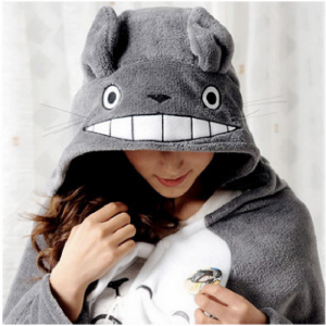 Cute Grey Totoro Cape