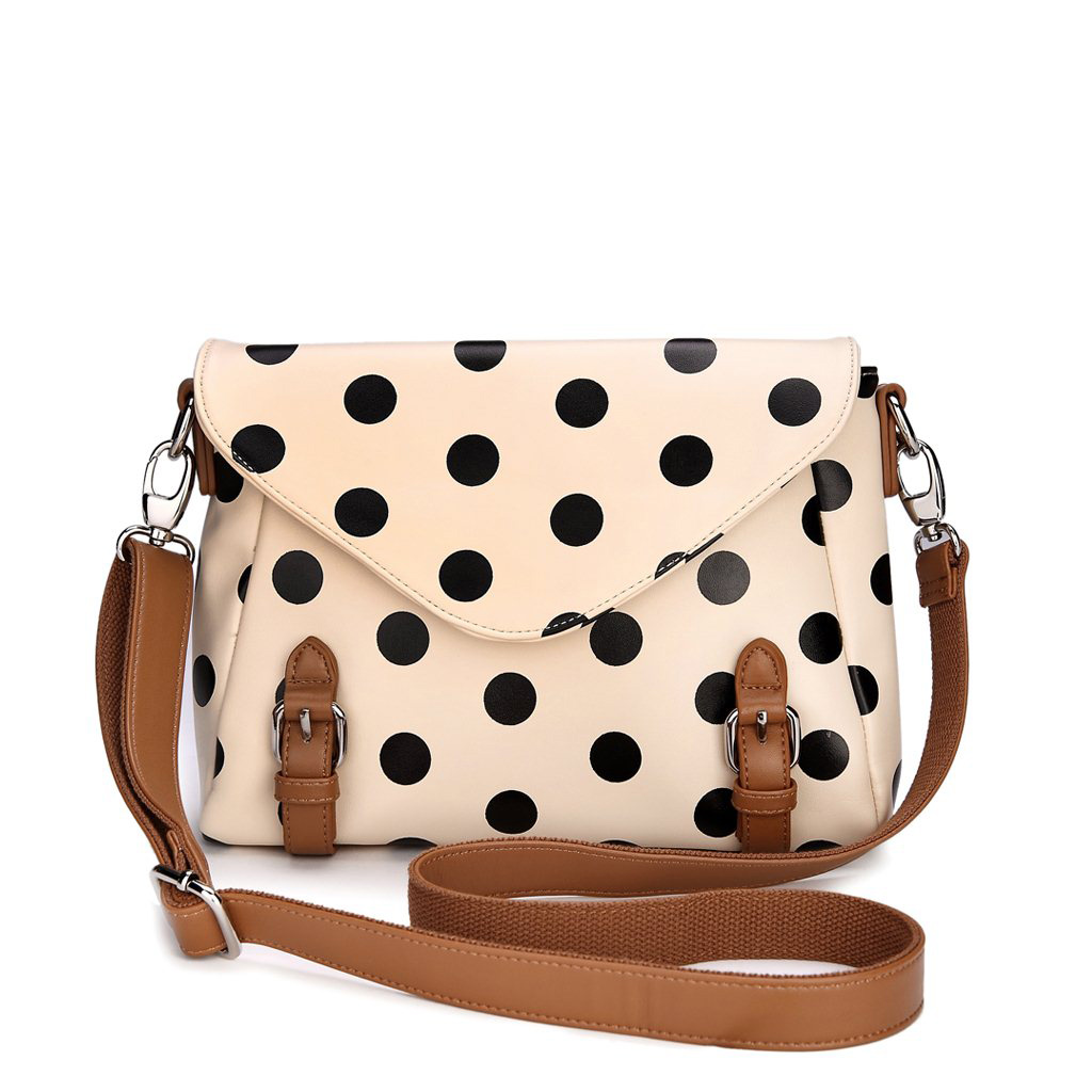Retro Cute Polka Dot Messenger Bag Shoulder Bag on Luulla