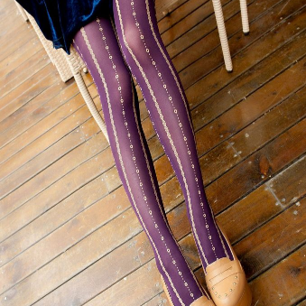 Lace Jacquard Tights